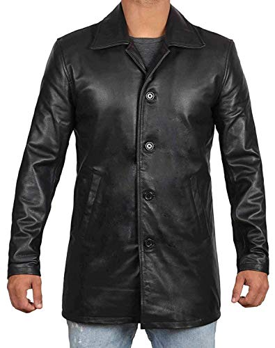 Blingsoul Black Genuine Lambskin Men Leather Jackets Car Coat | [1500042] Super N Black, S