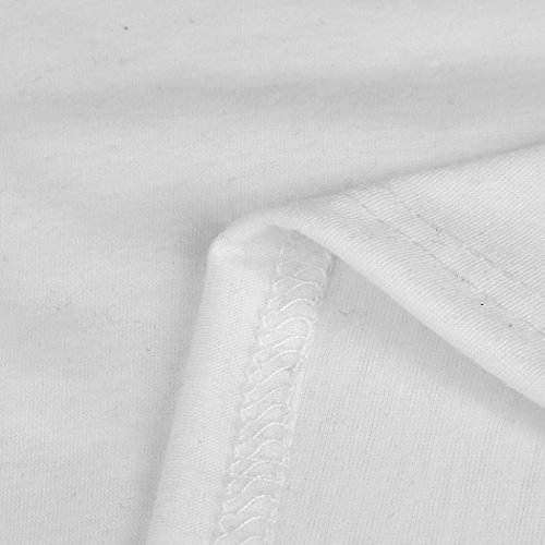 Vovotrade Chaleco sin mangas de las mujeres Blanco