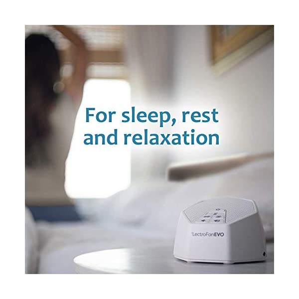 LectroFan Evo White Noise Sound Machine with 22 Unique Non-Looping Fan & White Noise Sounds & Sleep Timer, 1 Count