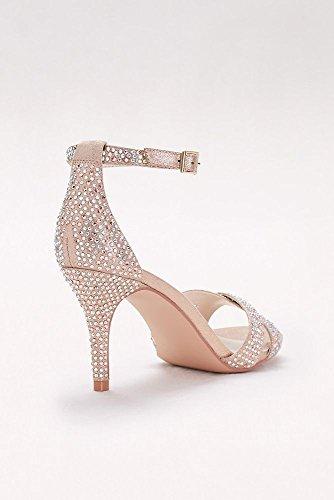 06969845e64 David s Bridal Crystal-Studded Crisscross Mid-Heel Sandals Style Brianne