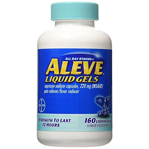 Aleve Liquid Gels with Easy Open Arthritis Cap, Naproxen Sodium, 220mg (NSAID) Pain Reliever/Fever Reducer, Pack of 1, 160 Count ()
