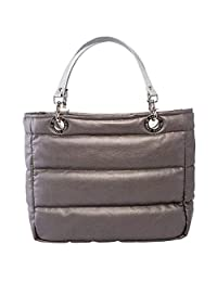 99b884a68 Bolsa para mujer Sundar ® Basica Metálica c/cierre color Estaño asas plata  tradicional