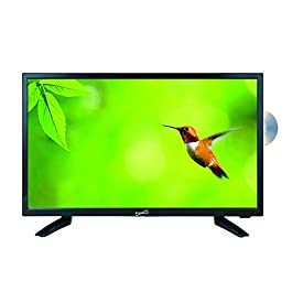 SuperSonic SC-1912 LED Widescreen HDTV 19″, Built-in DVD Player with HDMI, USB, SD & AC/DC Input: DVD/CD/CDR High Resolution and Digital Noise Reduction