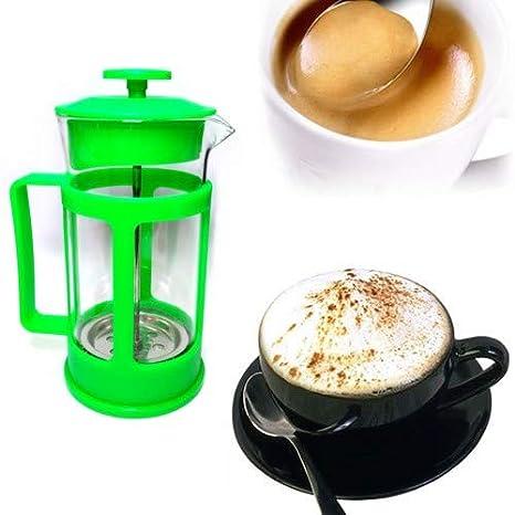 Espumador de leche de cristal para caf/é con leche y capuccino