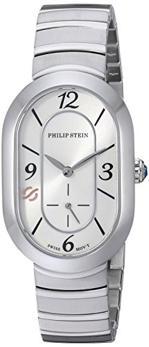 Philip Stein Women's 'Modern' Swiss Quartz Stainless Steel Casual Watch, Color:Silver-Toned (Model: 74-FW-MSS)