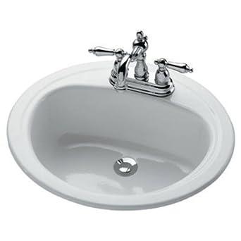 Bootz Industries 021 2445 Azalea Porcelain Enameled Steel 20 X 17 Lavatory  Sink In White
