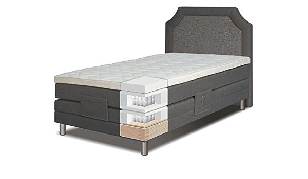 Cama con somier cama 120 x 200 cm gris: Amazon.es: Bricolaje ...