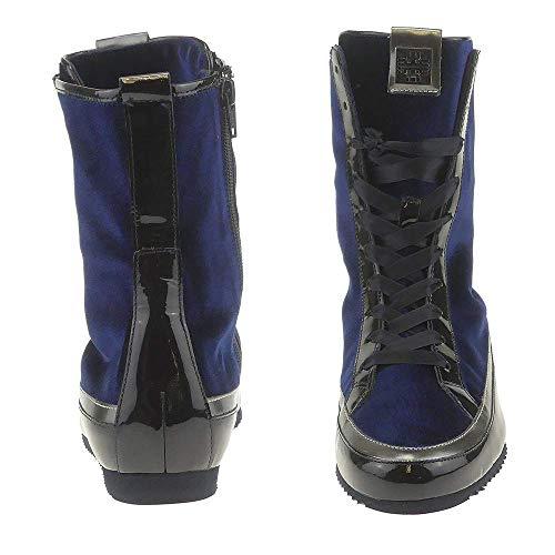Donna Högl 2326 altsilber Blau 3 darkblue 3577 Stivaletti 10 wX8WqXExpr
