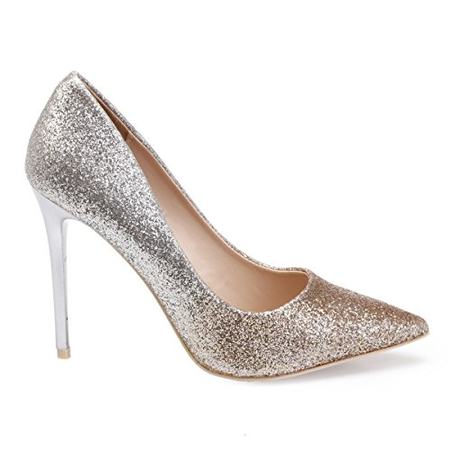 La Vestir Modeuse Sintético Material De Zapatos Dorado Mujer qqUxSHBr