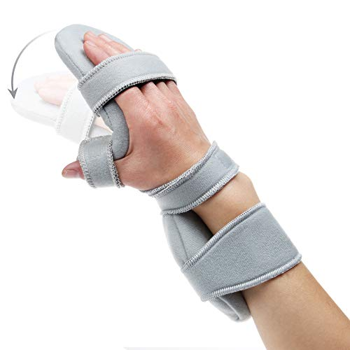 - REAQER Resting Hand Splint Night WristThumb Immobilizer Support for Pain Tendinitis Sprain Fracture Arthritis Dislocation (Right)
