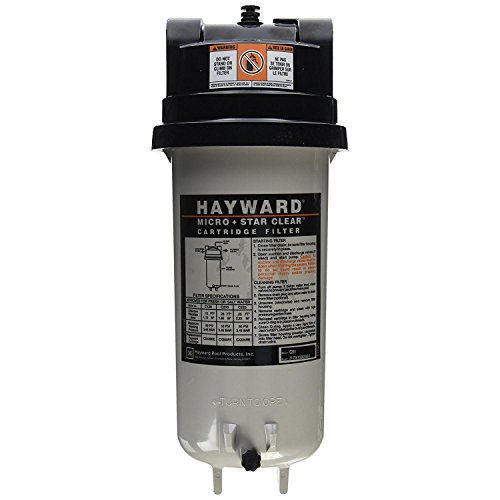 Hot Housing Filter Tub (Hayward C225 StarClear Micro Cartridge Pool Filter, 25 Square Foot)