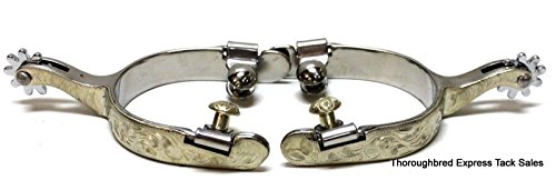 Kelly Silver Star Ladies' Engraved Sterling Silver Elite Show Spurs Horse Tack -