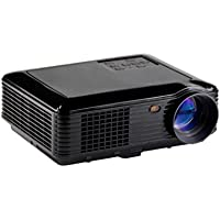 Skmei Hightest 1280x800 3500 Lumens Contrast Ratio 2000:1 LED Projector Home Theater 3D HD 1080P Business YPbPr, TV, HDMI Input, USB, VGA Port, 3-in-1 AV In Multi-language(Black)