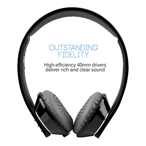 MEE audio Runaway 4.0 Bluetooth Stereo Wireless + Wired Headphones with Microphone (Black) by MEE audio (Image #2)