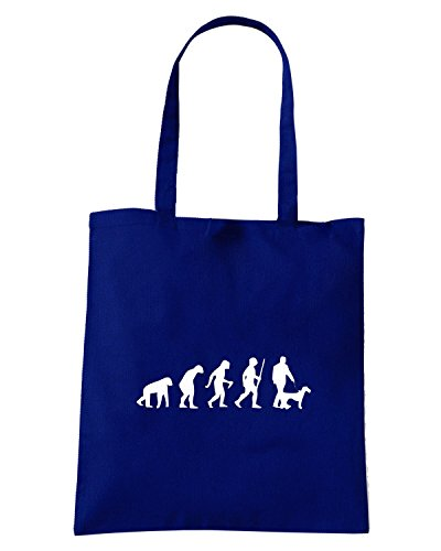 T-Shirtshock - Bolsa para la compra EVO0009 Dog Evolution Humor Maglietta Azul Marino