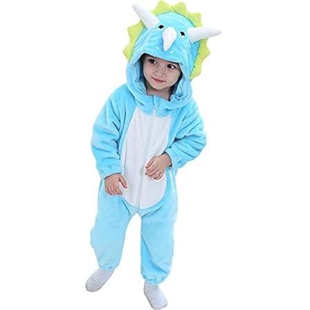 Bambino Pagliaccetto con Cappuccio Bambino Pagliaccetto Invernali in Flanella Tuta Animali Carini Cartone Animato Abbigliamento Set