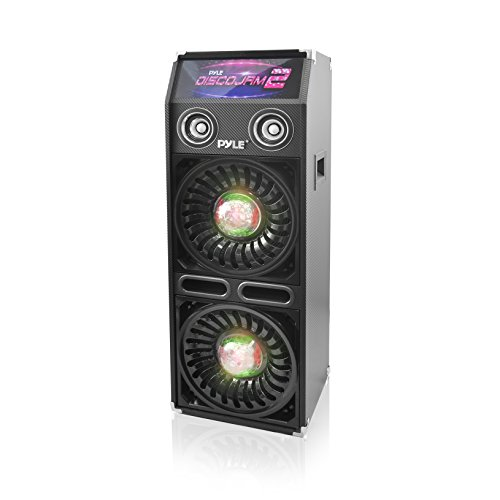 Pyle Disco Jam 2 Passive PA Speaker System, Flashing DJ Lights, Dual 10-Inch Woofers, Dual 3-Inch Tweeters, 1200 Watt by Pyle