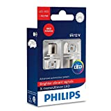 Philips (12899RX2) Red P21/5W LED Exterior Bulb