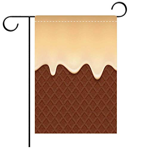 - BEICICI Custom Personalized Garden Flag Outdoor Flag Chocolate Wafer and Flowing Vanilla Cream Vector Background Best for Party Yard and Home Outdoor Decor