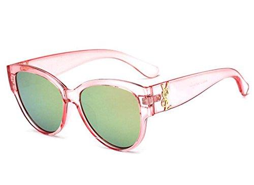 estilo a para de y de Mirror RDJM a irregulares gafas americano Frog hombre europeo gran mujer marco de y sol Trend Gafas sol tqaaw516