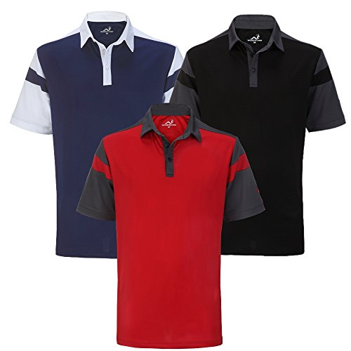 Woodworm Tour Performance V4 Mens Golf Polo Shirts 3 Pack