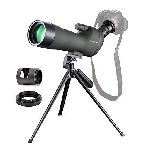 NOCOEX 20-60X60 Waterproof Zoom Spotting Scope- Prism Scope for Birdwatching Target Shooting Archery Outdoor Activities -with Tripod Canon Photography Adapter-Get The Beauty into Screen