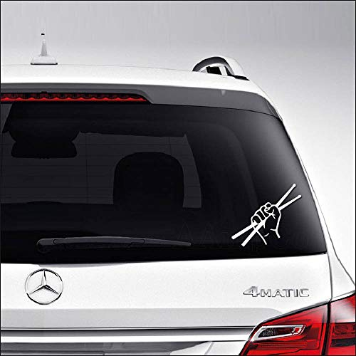 Aampco Decals Drumsticks Drummer Rock Band Car Truck Motorcycle Windows Bumper Wall Decor Vinyl Decal Sticker Size- [6 inch/15 cm] Wide/Color- Gloss ()