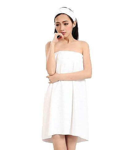 Women Bathrobe Wrap Set Ladies Bath Towel Girl Sleeveless MicrofiberBeach Terry