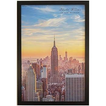 Frame Amo 16x24 Black Modern Wood Picture or Poster Frame, 1 inch Wide Border (1)