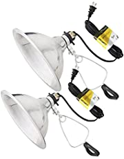 Simple Deluxe 2-Pack Clamp Lamp Light with 8.5 Inch Aluminum Reflector up to 150 Watt E26 (no Bulb Included) 6 Feet 18/2 SPT-2 Cord UL Listed