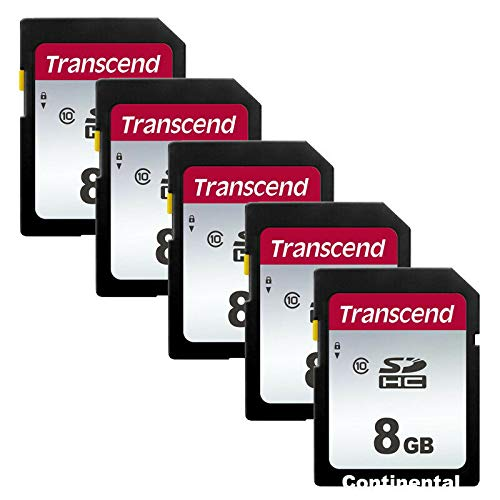 5 PACK Transcend TS8GSDHC10 5 x 8GB SDHC Class 10 Flash Memory Card