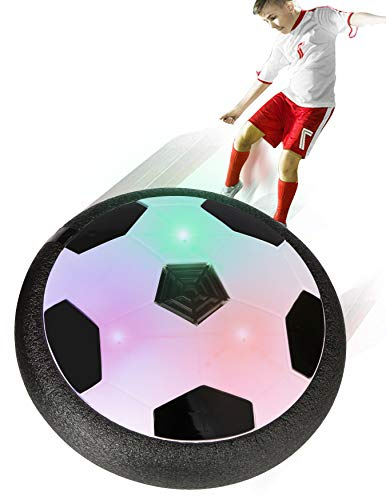 SCIONE Kids Toys Hover Soccer Ball Indoor LED Air Power Training Ball Playing Football Game Toys for 3 4 5 6 7 8-12 Year Old Boys Toy with Mini Screwdriver