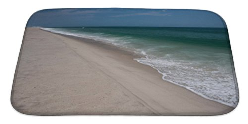 Gear New Bath Rug Mat No Slip Skid Microfiber Soft Plush Absorbent Memory Foam, Scenic Cape Cod Beach And Atlantic Ocean, 34x21 Atlantic Coastline Memories