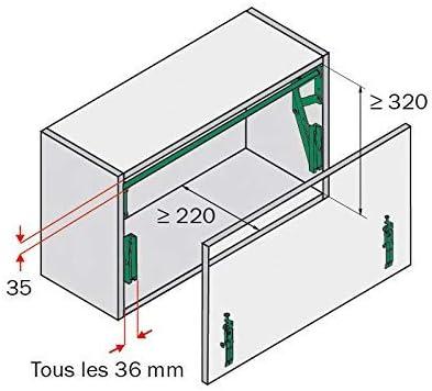 Fl/ügelgewicht bis 4KG KB 450-600 silberfarbig Peka HB 500 Hochliftbeschlag