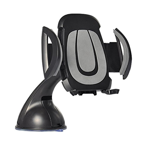 SuperArt Universal iphone holder 360 Mount Holder Cradle Compatible with iPhone 7 7 Plus SE 6s 6 Plus 6 5s 5 4s 4 Samsung Galaxy S6 S5 S4 LG Nexus Sony Nokia and More (Black)