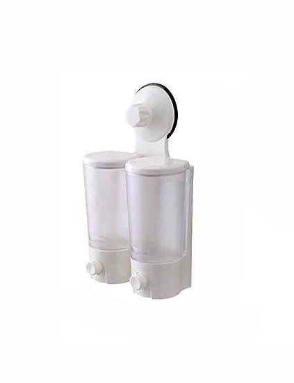 Dispensador de jabón Ventosas Fuertes Dos Combinaciones Baño Jabón Líquido Dispensador Desinfectante para las manos Montado