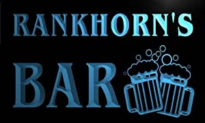 w099583-b RANKHORN'S Name Home Bar Pub Beer Mugs Cheers Neon Light Sign