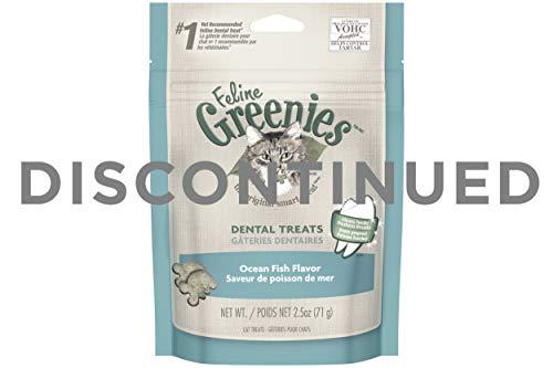 DISCONTINUED: FELINE GREENIES Dental Treats for Cats Ocean Fish Flavor 2.5 oz.