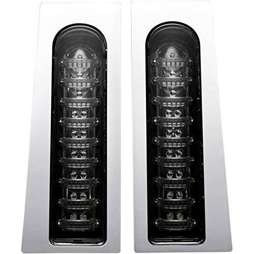 Custom Dynamics ProBEAM Fillerz Saddlebag Support LEDs, Chrome PB-Fill-S-C