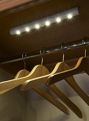 Auraglow Automatische LED-Lichtleiste Bewegungsmelder Kabelloses Superhelles mit 6 LEDs - Tageslicht-weiß