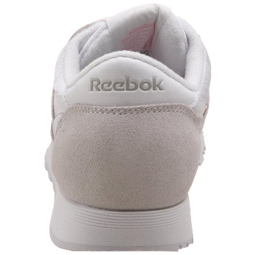 light 36088 Reebok Homme Classic Basses white Grey Sneakers Blanc Nylon 88vTwqnZ