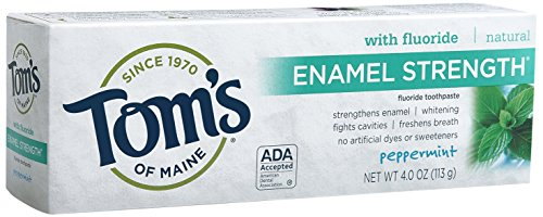 Tom's of Maine 683607 Enamel Strength Natural Toothpaste, Peppermint, 4 Ounce, 24 Count by Tom's of Maine