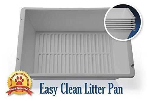 41FulnEjIkL - Easy Clean Litter Pan 7 layers
