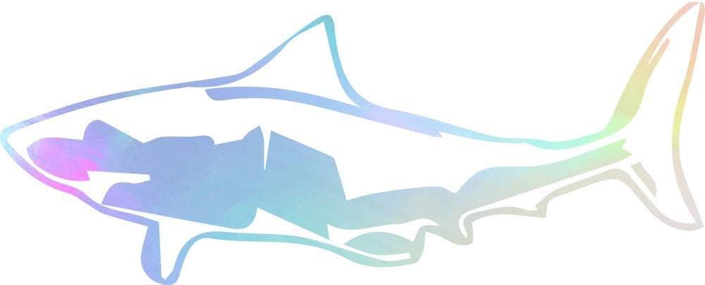 USC DECALS Detailed Shark (Hologram) (Set of 2) Premium Waterproof Vinyl Decal Stickers for Laptop Phone Accessory Helmet Car Window Bumper Mug Tuber Cup Door Wall Decoration
