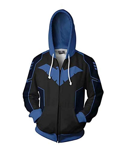 Greed Land Hero Nightwing Print Hoodies Zipper Cosplay