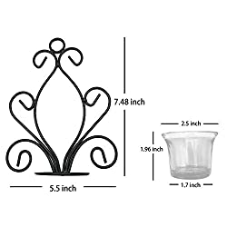 Christmas Candle Sconces Wall Iron Candle Holder,
