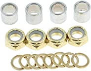 Metal Spacer Washer, Hardware Set Repair Nuts Kit for Skateboard Bearing Spacers and Truck Washers Speed Rings