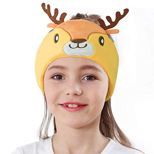 WACCOUSE Kids Headphones Volume Limited with Super Soft Fleece Headband - Perfect Earphones for Protecting Childrens Hearing, Sleeping Headphones for Kids- ElK
