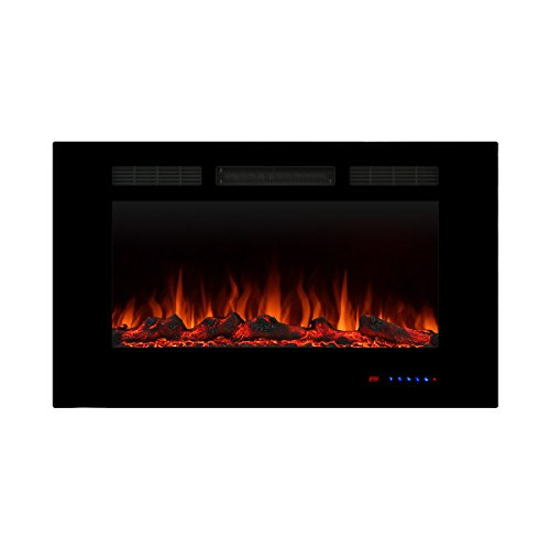 gas fireplace in wall - 2