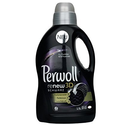 Perwoll Renew Black 3D, Liquid Black and Dark Color Laundry Detergent 1,5 Liters, 20 Loads (Best Detergent For Black Clothes)